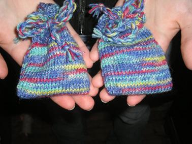 Handspinnende Sockenwolleswap